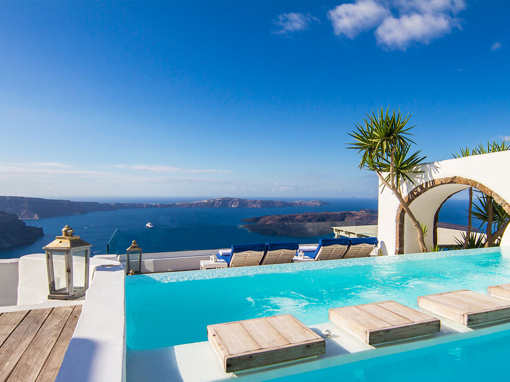 Santorini images photo gallery of iconic santorini imerovigli - Santorini infinity pool ...