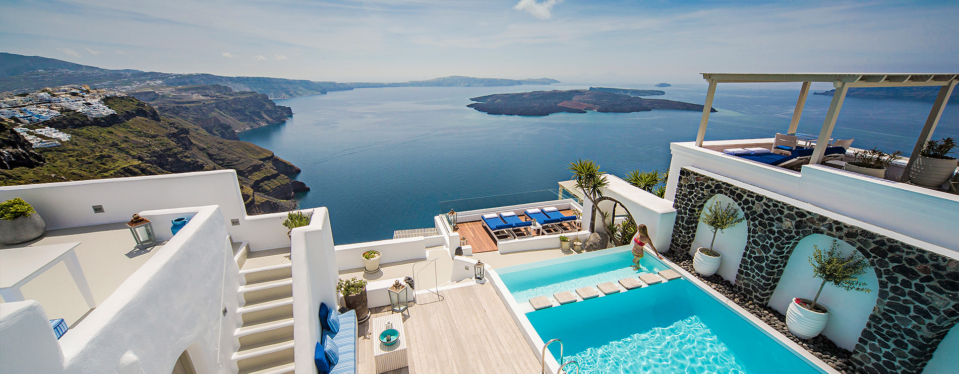 Iconic santorini luxury boutique cave hotel imerovigli for Hotels santorin