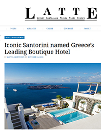 Press iconic santorini for Leading small hotels